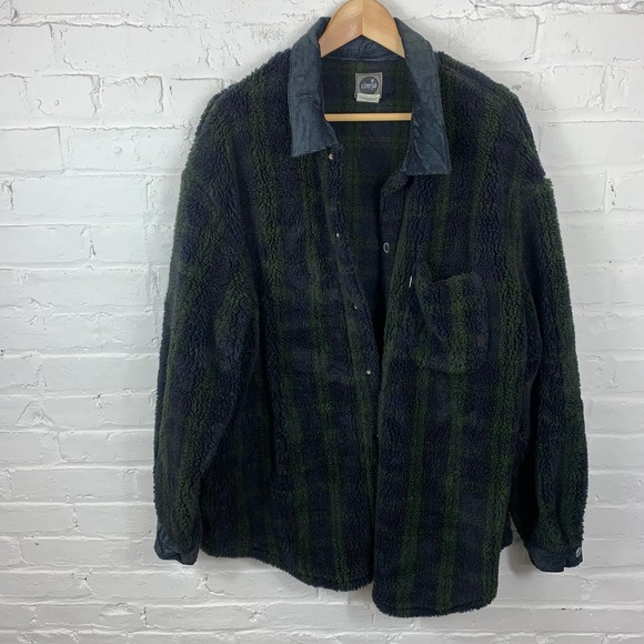 Levi's Men's Button Front Winter Fleece Jackets Long Sleeve Collar Neck Size L